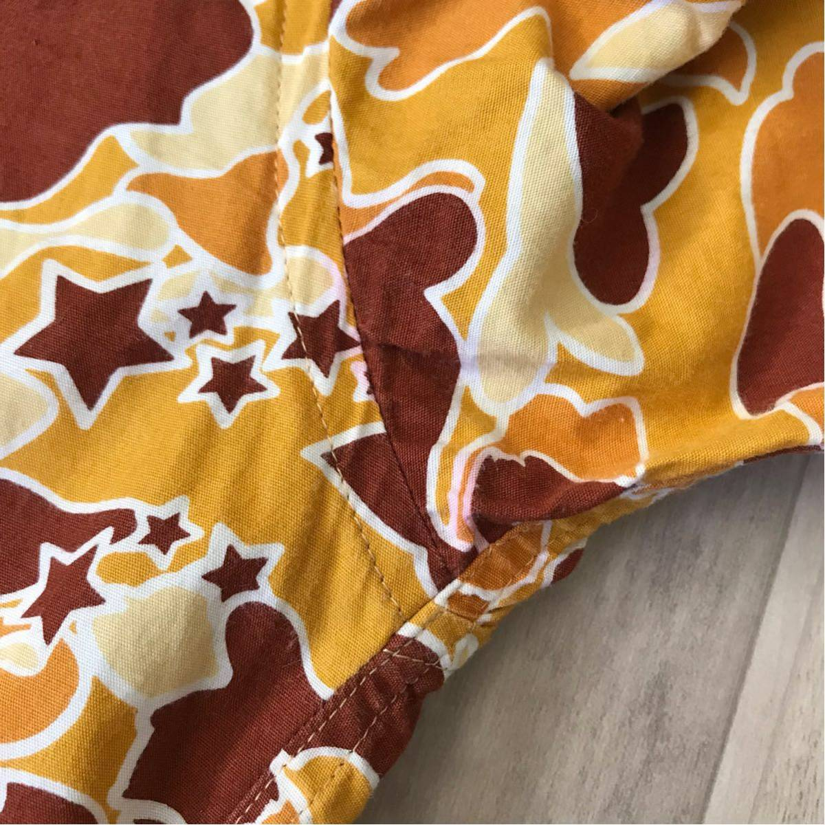 ★XL★ sta camo 長袖シャツ a bathing ape bape エイプ ベイプ アベイシングエイプ psyche サイケ カモフラ 迷彩 裏原宿 orange camo