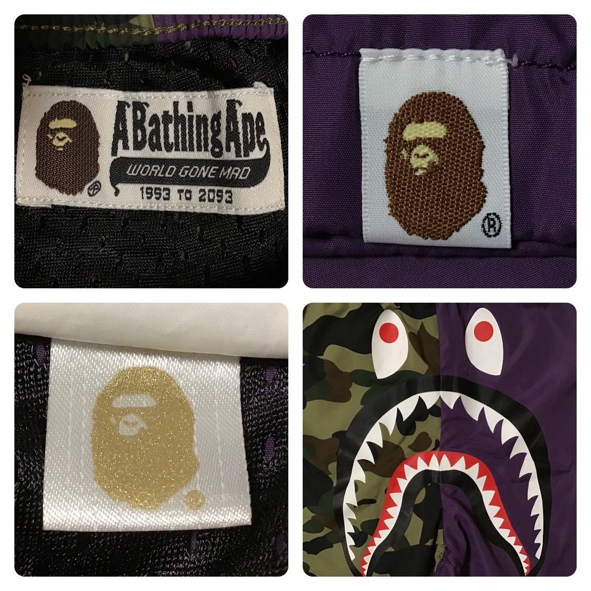 1st camo × purple シャーク ハーフパンツ Mサイズ a bathing ape BAPE shark shorts ショーツ エイプ ベイプ アベイシングエイプ 迷彩 nj