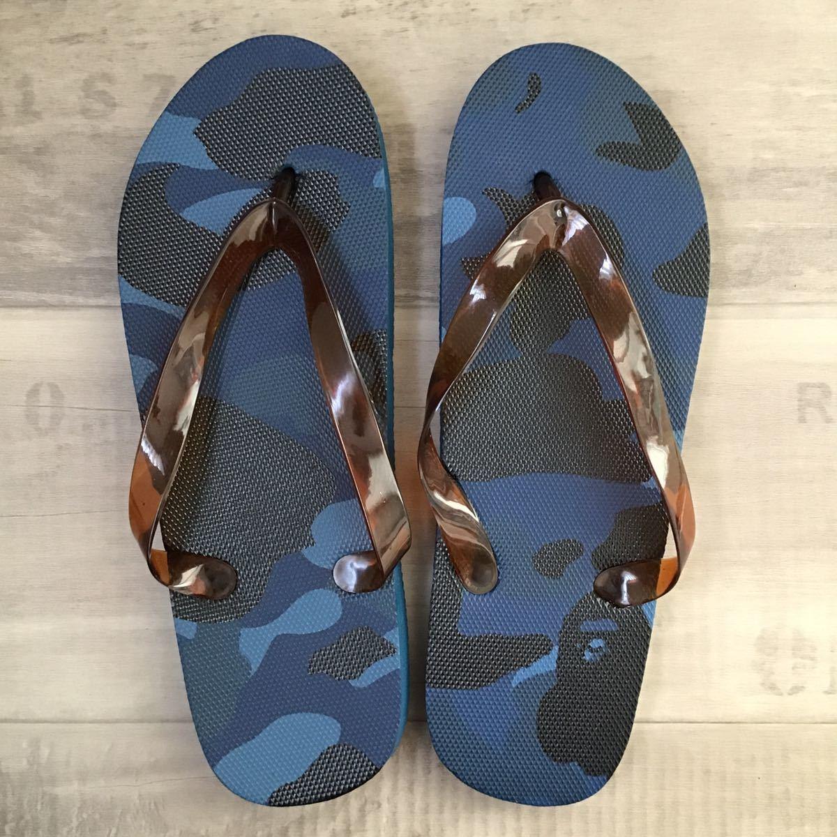 ★新品★ blue camo ビーチサンダル a bathing ape bape サンダル エイプ ベイプ アベイシングエイプ 迷彩 nigo pharrell camo sandals