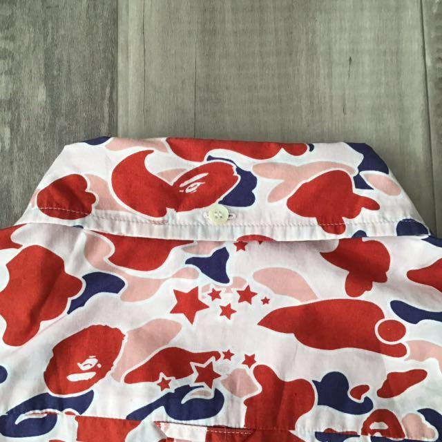 sta camo pink 半袖シャツ Lサイズ a bathing ape bape エイプ ベイプ アベイシングエイプ psyche サイケ 迷彩 裏原宿 NOWHERE 582