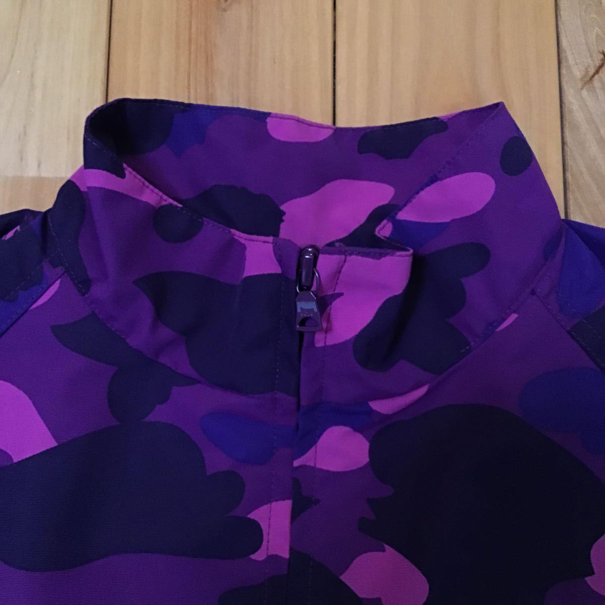 cycle jacket purple camo Sサイズ a bathing ape BAPE STA エイプ ベイプ アベイシングエイプ ナイロンジャケット パープルカモ 迷彩