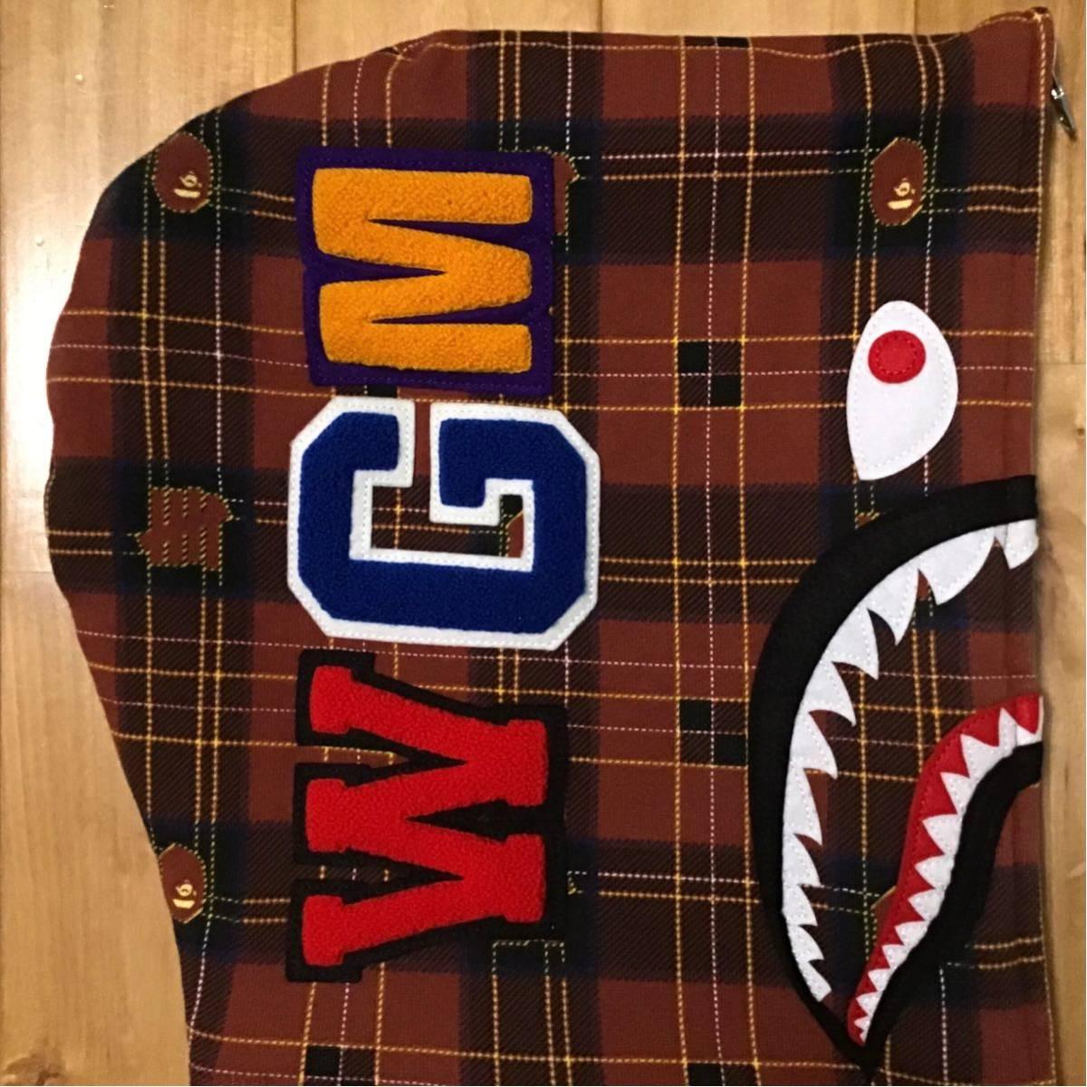 undefeated × BAPE シャーク パーカー Sサイズ check shark full zip hoodie a bathing ape エイプ ベイプ アンディフィーテッド 08la