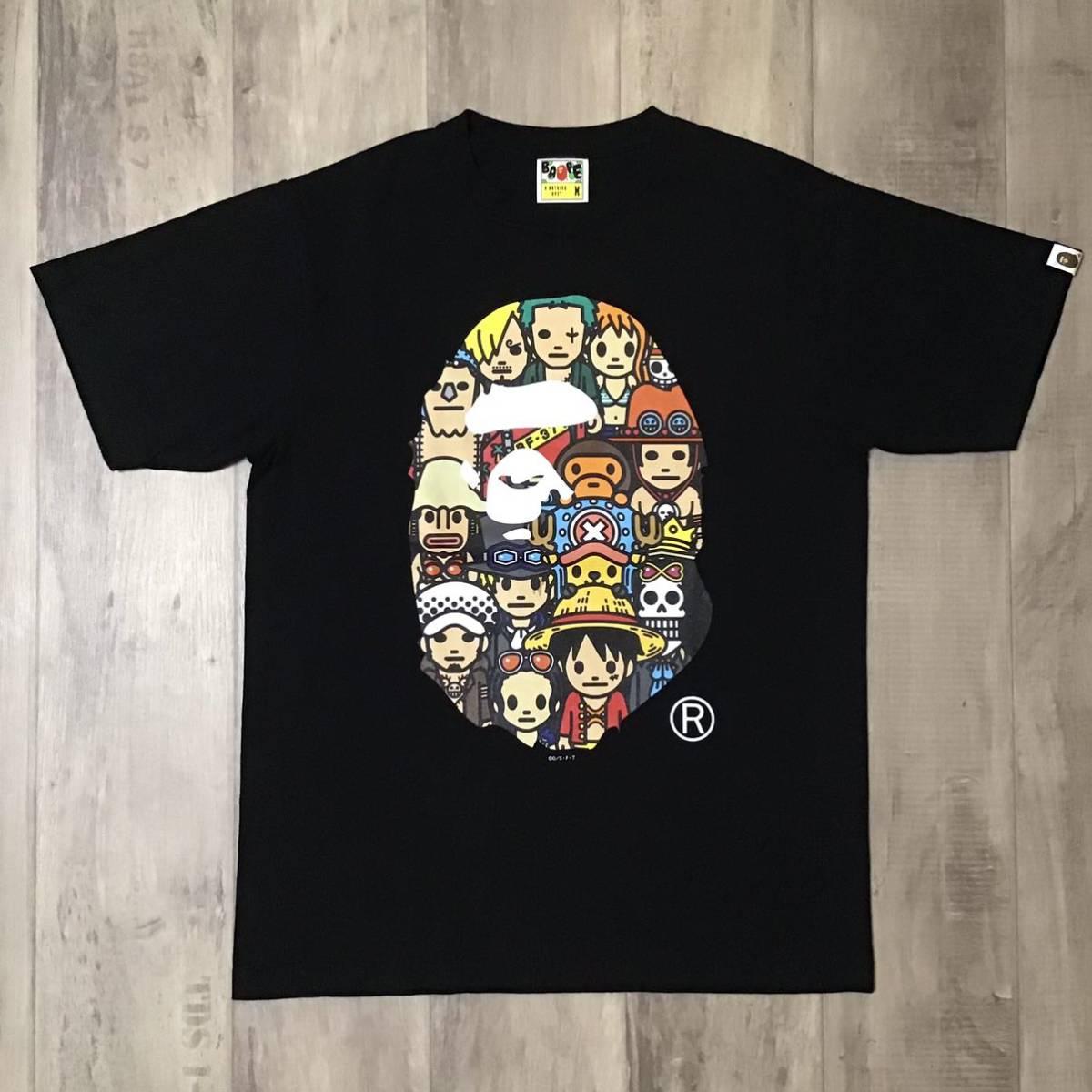 ★激レア★ ONEPIECE × BAPE BIG HEAD Tシャツ Mサイズ a bathing ape ワンピース エイプ ベイプ アベイシングエイプ luffy milo zoro fc6