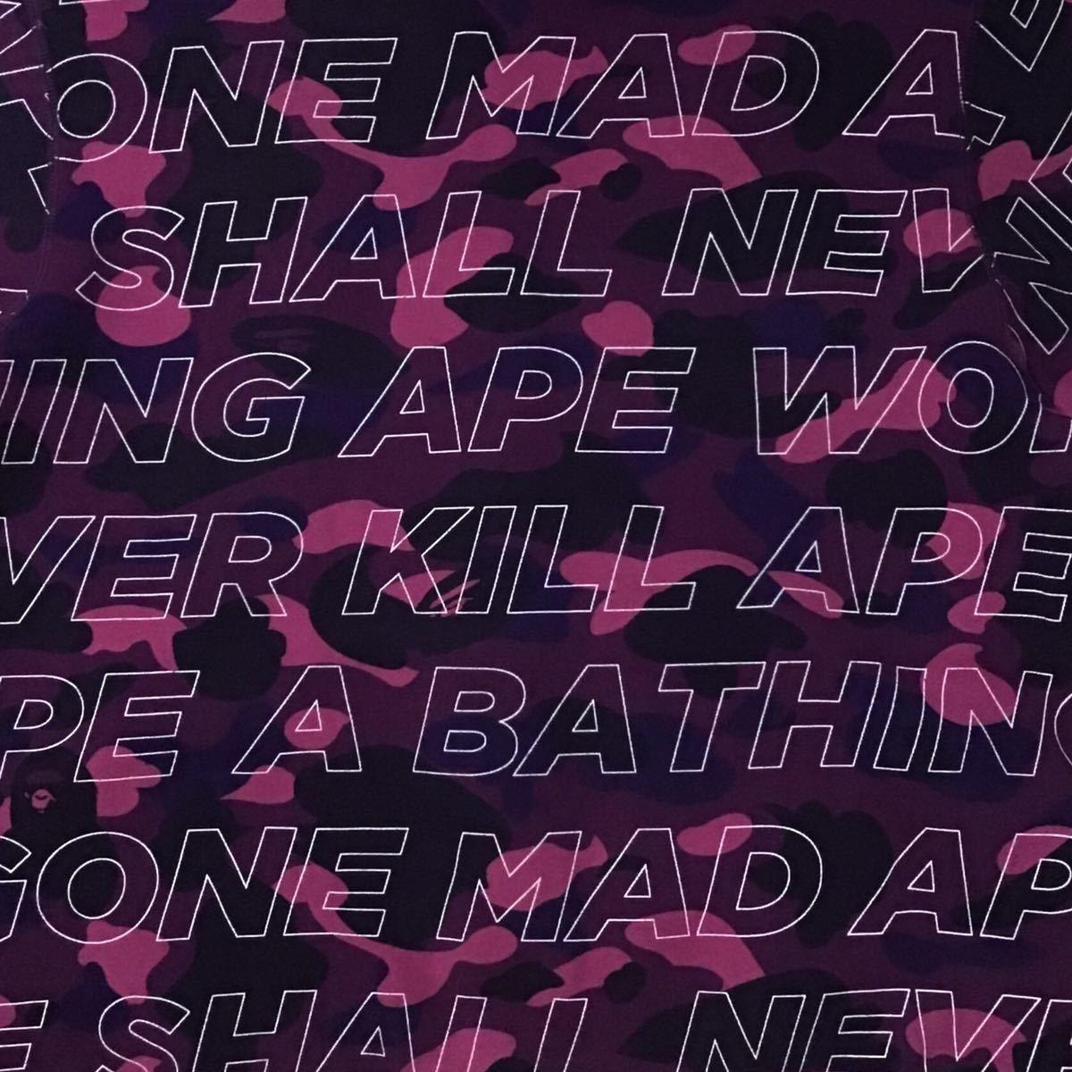 Text color camo シャーク パーカー Mサイズ shark full zip hoodie a bathing ape bape エイプ ベイプ アベイシングエイプ purple camo h9