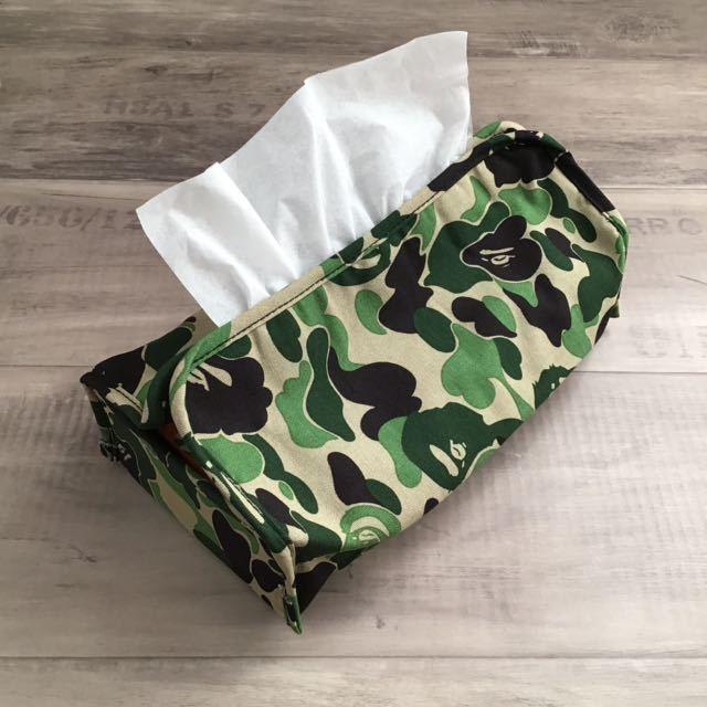 ★新品★ ティッシュカバー a bathing ape bape エイプ ベイプ アベイシングエイプ 非売品 カモフラ 迷彩 ABC camo ティッシュ ケース box