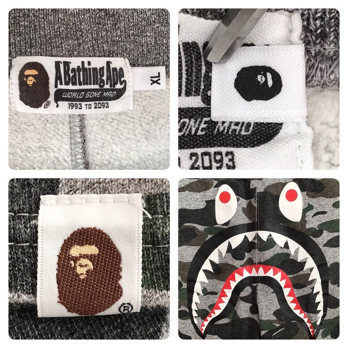★XL★ Heather grey camo シャーク スウェット ハーフパンツ a bathing ape BAPE shark sweat shorts エイプ ベイプ アベイシングエイプ n