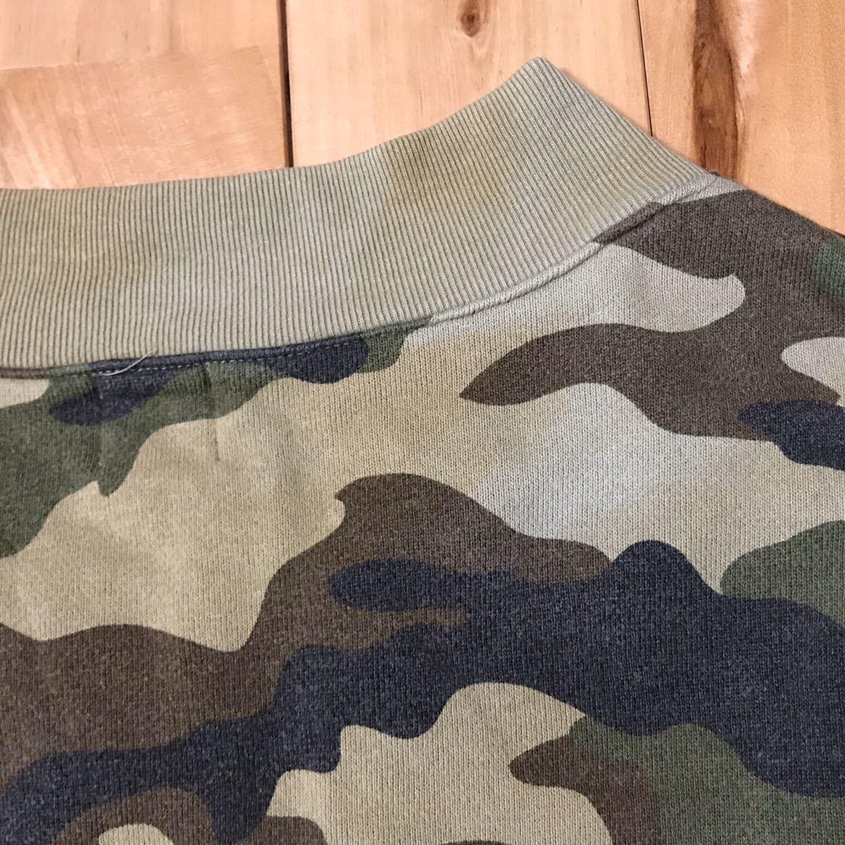 ★初期★ woodland camo スウェット ブルゾン a bathing ape BAPE jacket vintage エイプ ベイプ アベイシングエイプ 迷彩 ジャケット 682