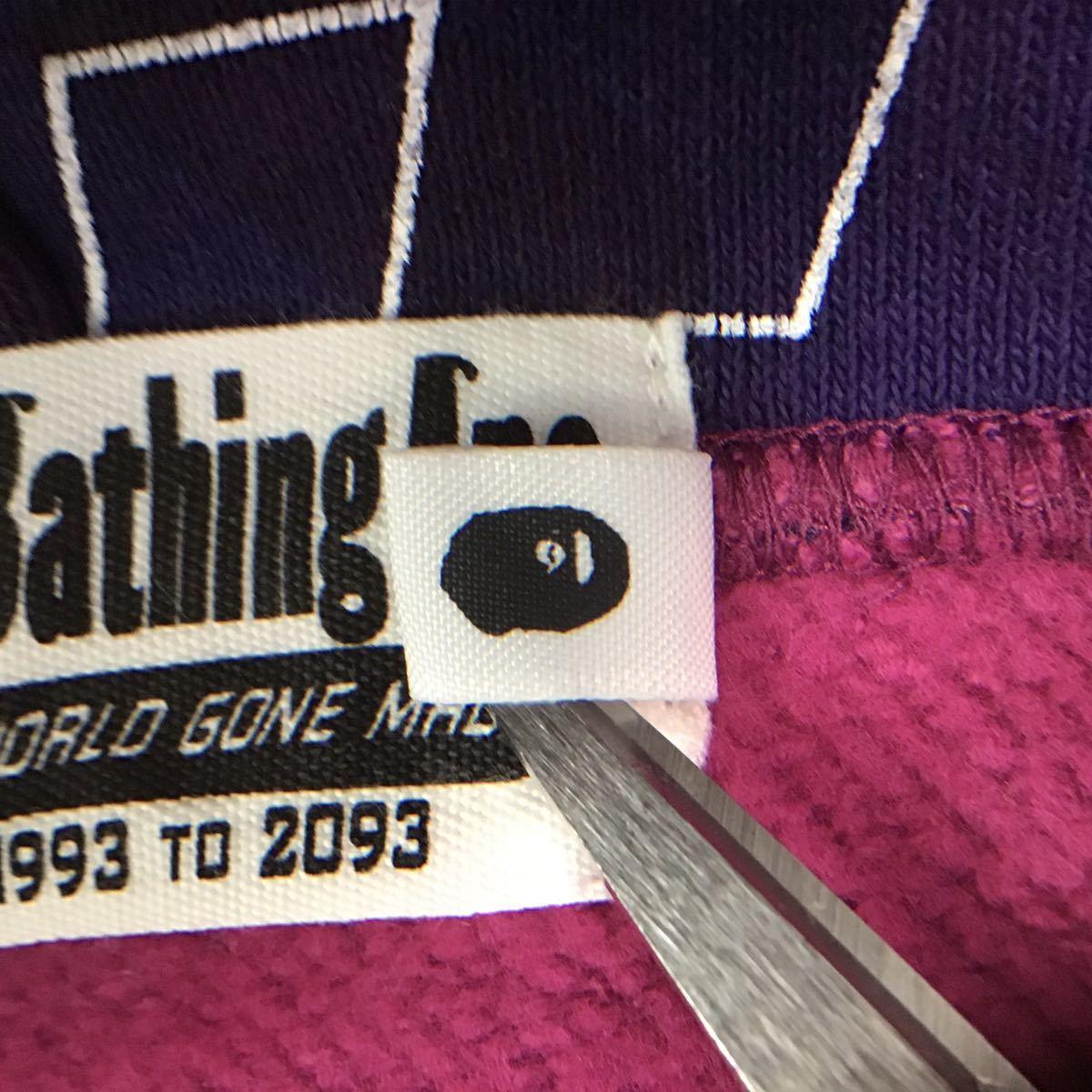 text camo スウェット フード ベスト Mサイズ a bathing ape bape hoodie vest エイプ ベイプ アベイシングエイプ パーカー purple camo