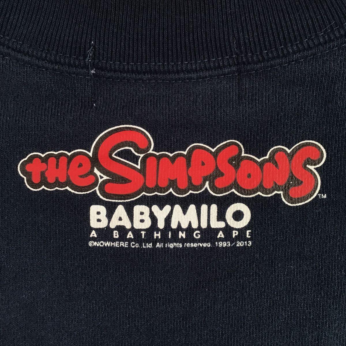 ★激レア★ THE SIMPSONS × BAPE 長袖スウェット navy Mサイズ a bathing ape baby milo sweat マイロ シンプソンズ エイプ ベイプ 7052