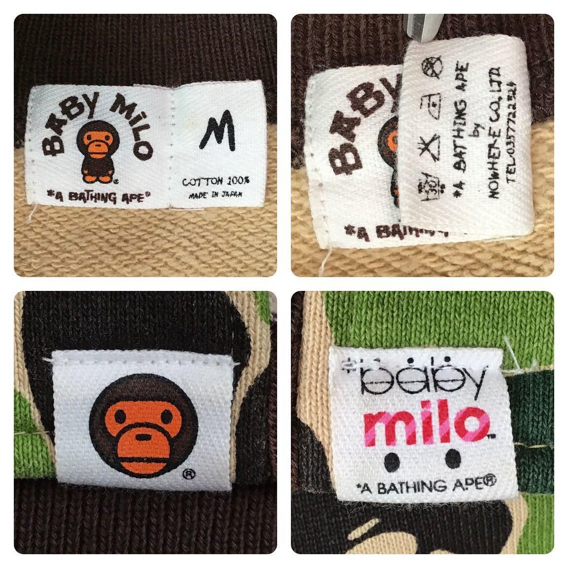 ABC milo camo スウェット スタジャン Mサイズ a bathing ape BAPE sweat varsity jacket エイプ ベイプ マイロ bomber 迷彩 NIGO 9900