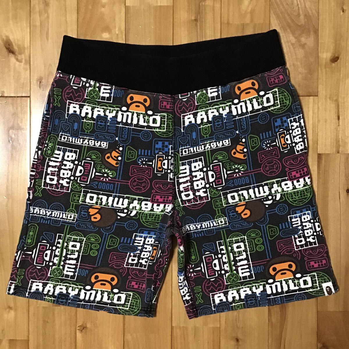 マイロ スウェット ハーフパンツ Lサイズ a bathing ape bape sweat shorts milo エイプ ベイプ アベイシングエイプ ショーツ 74k