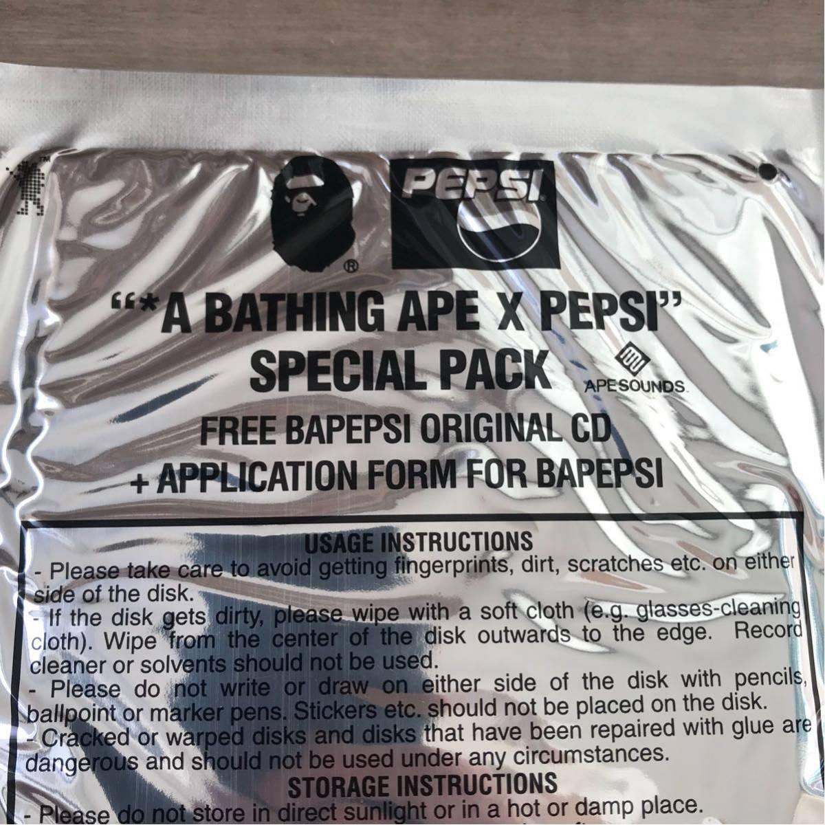 ★未開封★ bape × pepsi CD バンダナ a bathing ape ペプシ コーラ ABCカモ エイプ ベイプ アベイシングエイプ ape sounds 非売品 nigo