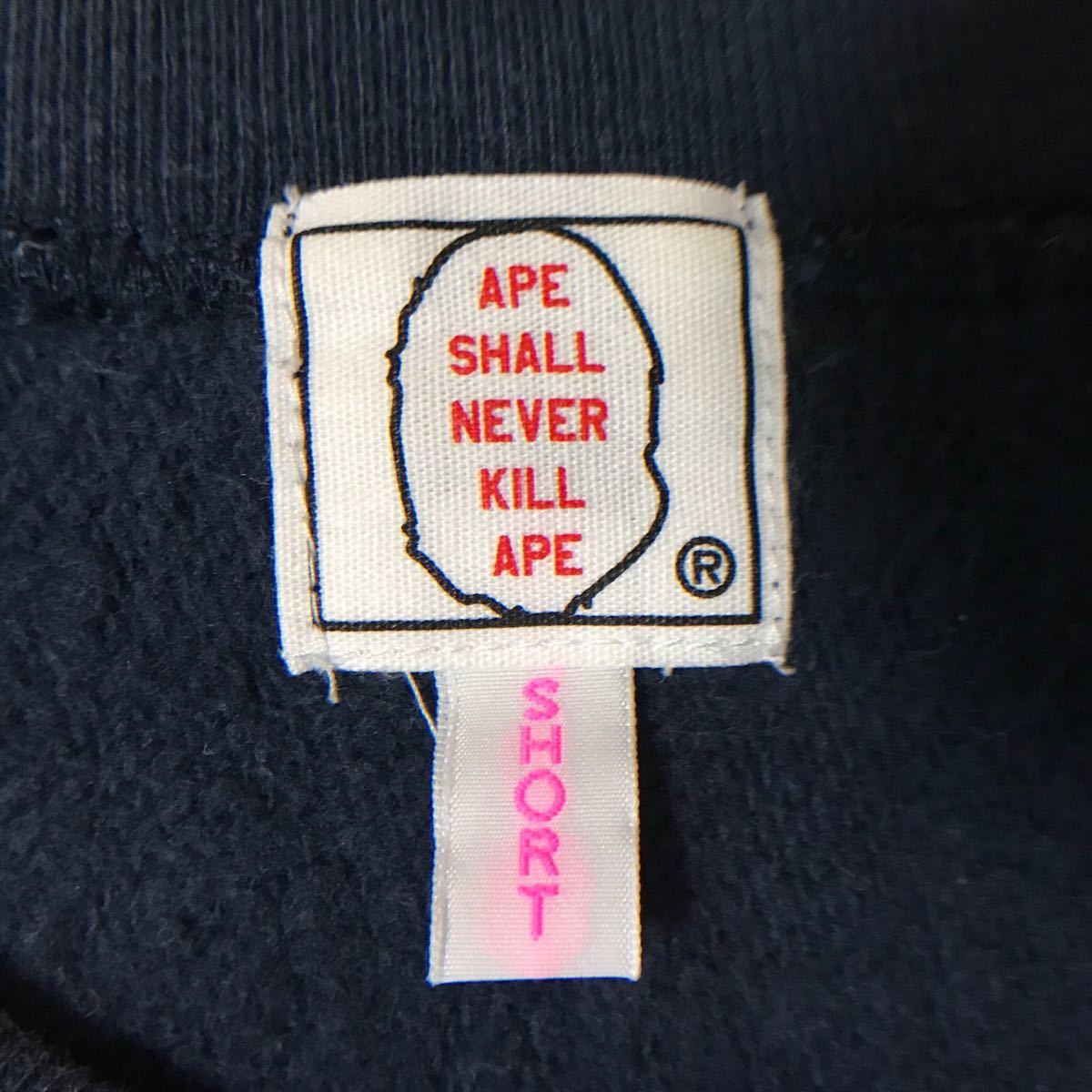 kaws × BAPE レディース 長袖スウェット navy a bathing ape apee エイプ ベイプ アベイシングエイプ カウズ ladies nigo