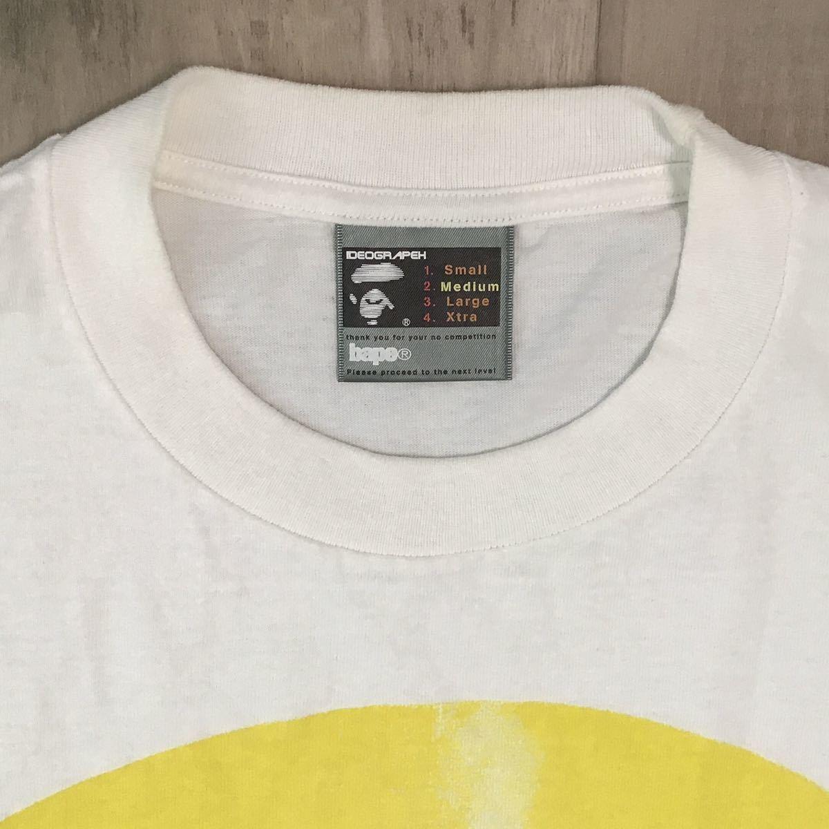 ★青山限定★ 手刷り 8周年記念 Tシャツ シリアルナンバー入り 100番 Mサイズ bape a bathing ape エイプ ベイプ nigo handprint