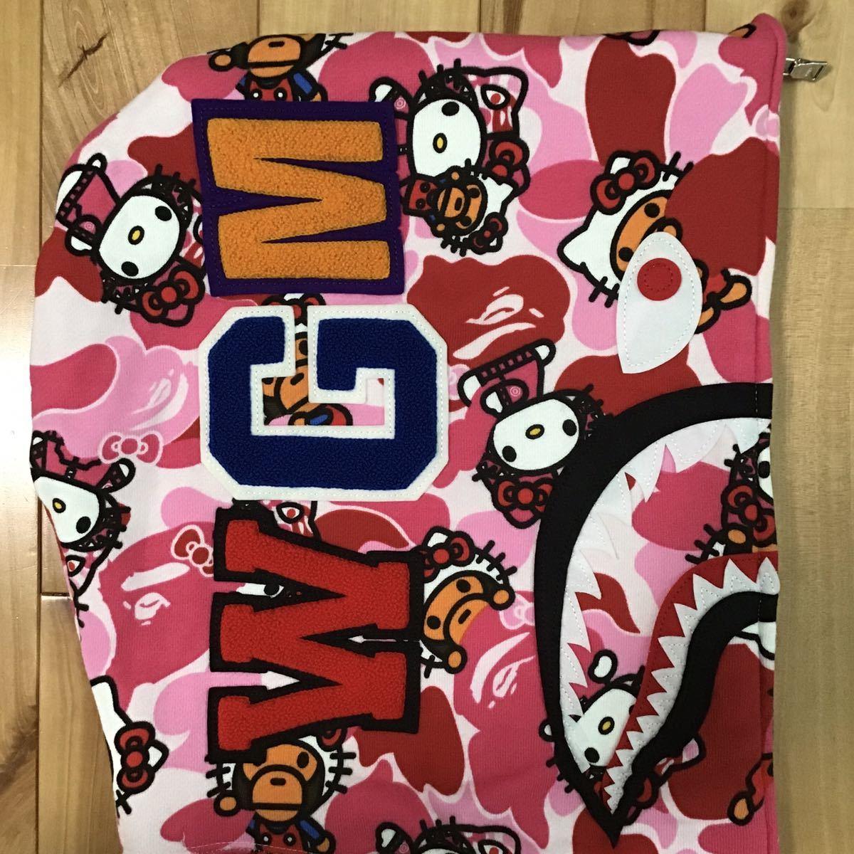 kitty milo シャーク パーカー Lサイズ shark full zip hoodie キティ マイロ サンリオ a bathing ape bape ABC camo pink エイプ ベイプ