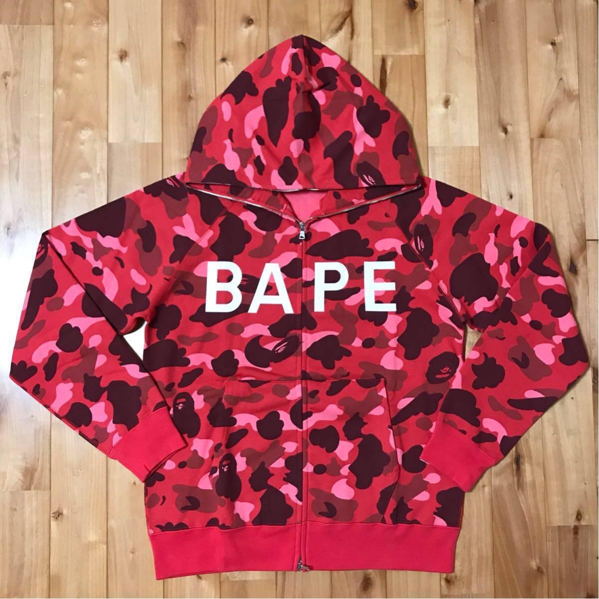 ★新品★ pharrell camo パーカー Lサイズ a bathing ape bape hoodie エイプ ベイプ red camo N・E・R・D The Neptunes レッドカモ 迷彩