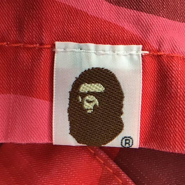 pharrell camo ミリタリー シャツ Lサイズ a bathing ape BAPE レッドカモ 迷彩 エイプ ベイプ アベイシングエイプ general 初期 red camo