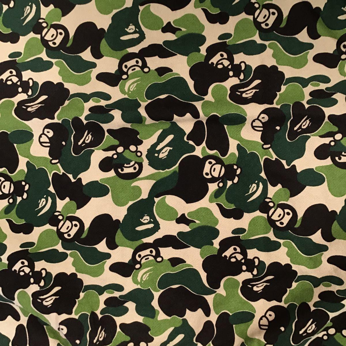 ABC milo camo green crazy 長袖スウェット Sサイズ a bathing ape bape sweat エイプ ベイプ アベイシングエイプ ABCカモ 迷彩 151