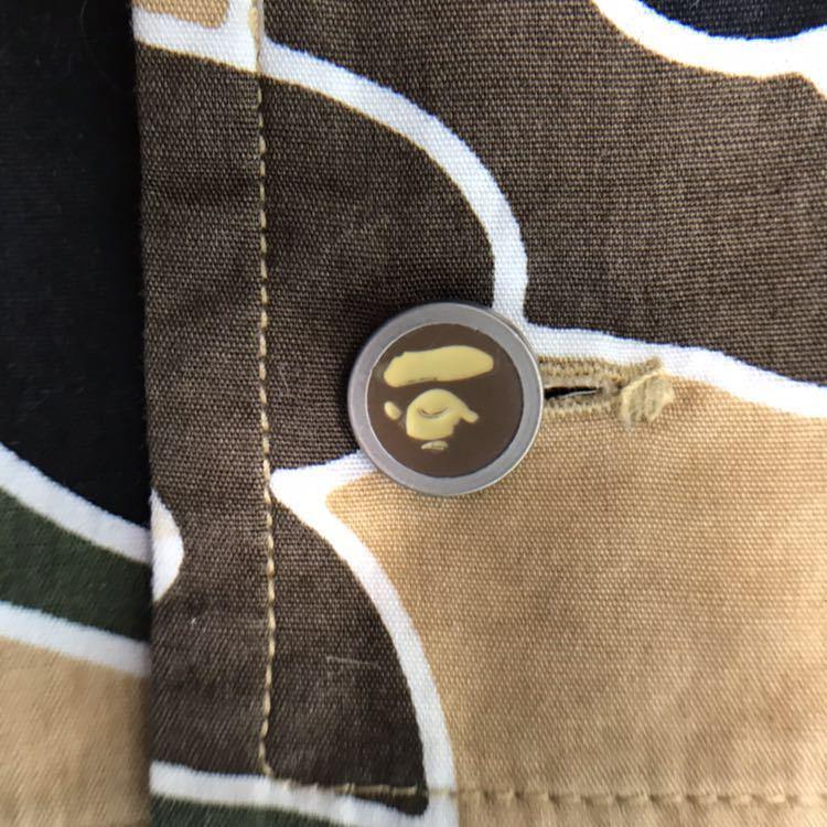 ★美品★ sta camo BD長袖シャツ yellow Sサイズ a bathing ape bape psyche エイプ ベイプ アベイシングエイプ サイケ 初期 迷彩 nigo