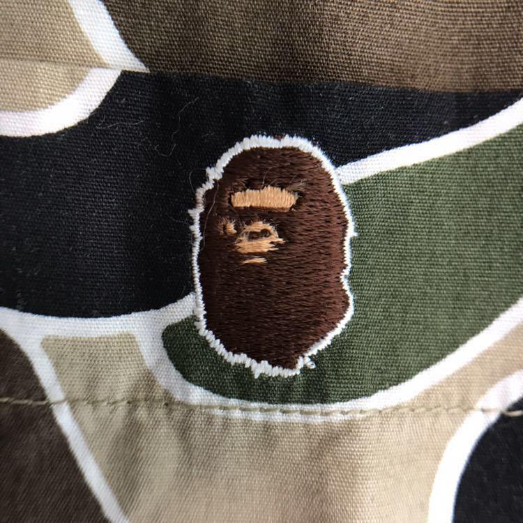 ★美品★ sta camo 長袖シャツ green Lサイズ a bathing ape bape psyche エイプ ベイプ アベイシングエイプ サイケ 初期 迷彩 nigo
