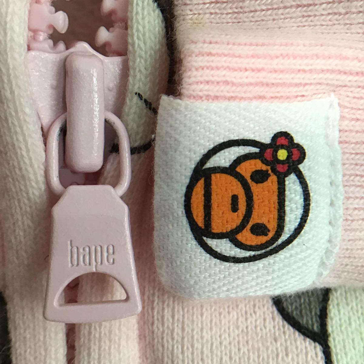 ★激レア★ kaws companion × milo パーカー shortサイズ a bathing ape bape hoodie カウズ エイプ ベイプ マイロ apee レディース pink