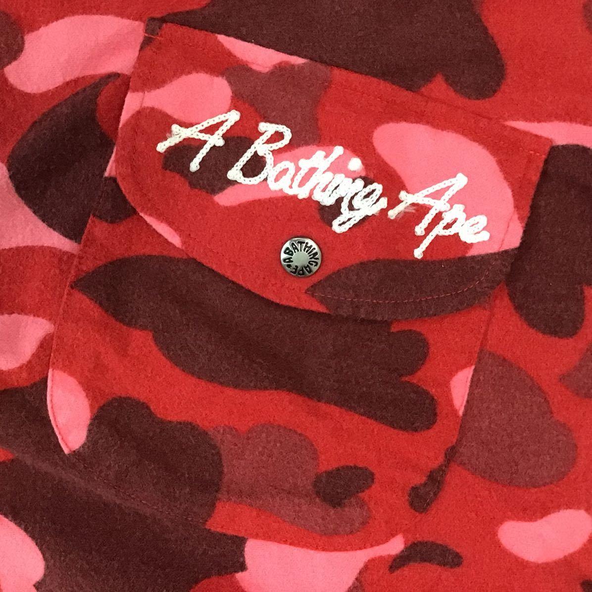 pharrell camo 半袖シャツ Mサイズ a bathing ape bape red camo エイプ ベイプ アベイシングエイプ 迷彩 ll66