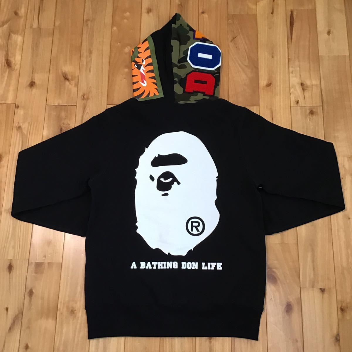 ★美品★ Big sean シャーク パーカー Mサイズ shark full zip hoodie a bathing ape BAPE エイプ ベイプ アベイシングエイプ clipse 01m