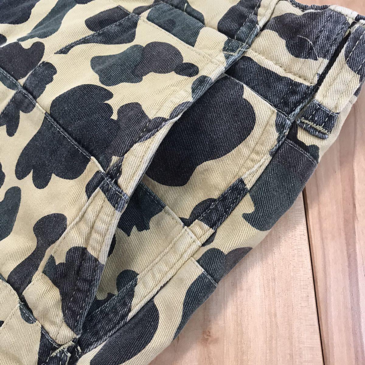 パッチワーク 1st camo yellow ハーフパンツ Sサイズ a bathing ape bape shorts エイプ ベイプ アベイシングエイプ ショーツ 迷彩 285