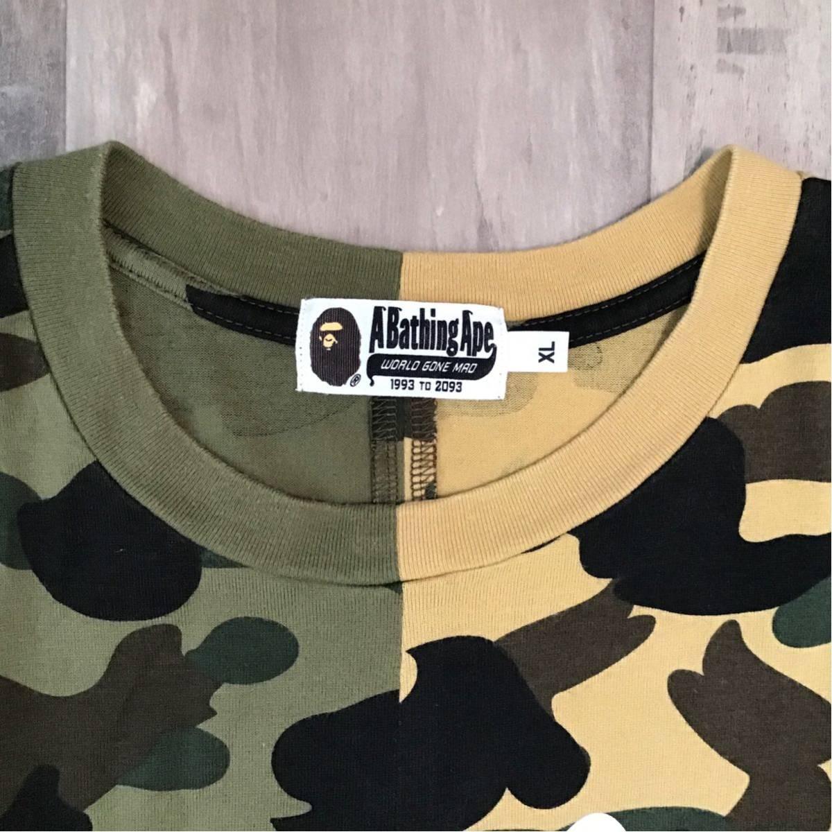 ★XL★ 1st camo half シャーク Tシャツ a bathing ape BAPE shark エイプ ベイプ アベイシングエイプ 迷彩 13mx