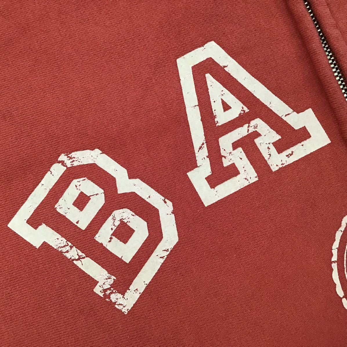 ★初期★ BAPE LOGO ジップ パーカー Sサイズ a bathing ape zip hoodie エイプ ベイプ アベイシングエイプ vintage NIGO 8jf