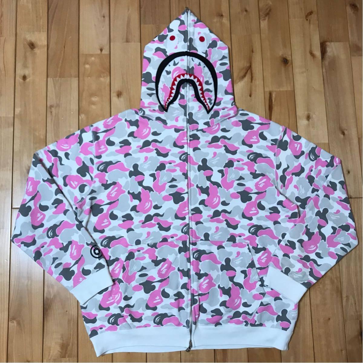 ★金沢限定★ kanazawa limited color camo シャーク パーカー L shark full zip hoodie a bathing ape BAPE エイプ ベイプ 都市限定 city