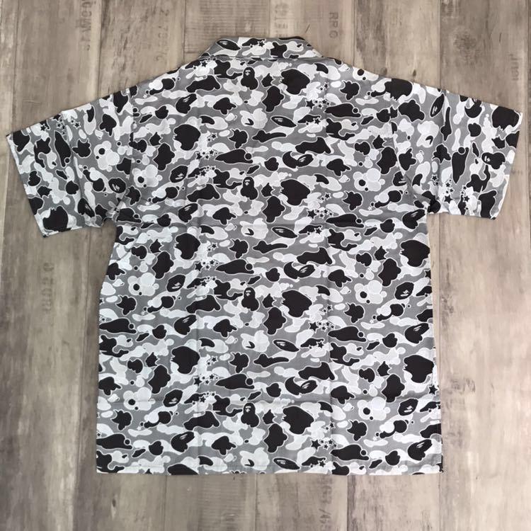 アロハシャツ sta camo gray Lサイズ a bathing ape bape 半袖シャツ エイプ ベイプ アベイシングエイプ 迷彩 psyche サイケ nigo