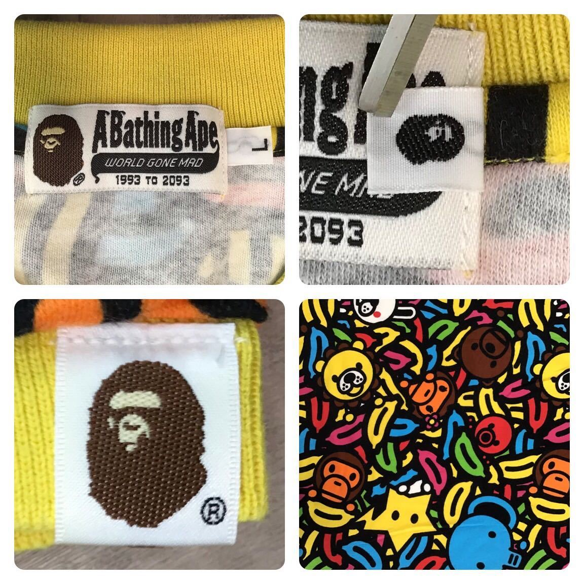 マイロ アニマル バナナ サファリ ポロシャツ Lサイズ a bathing ape bape baby milo エイプ ベイプ アベイシングエイプ Safari animal 3vp