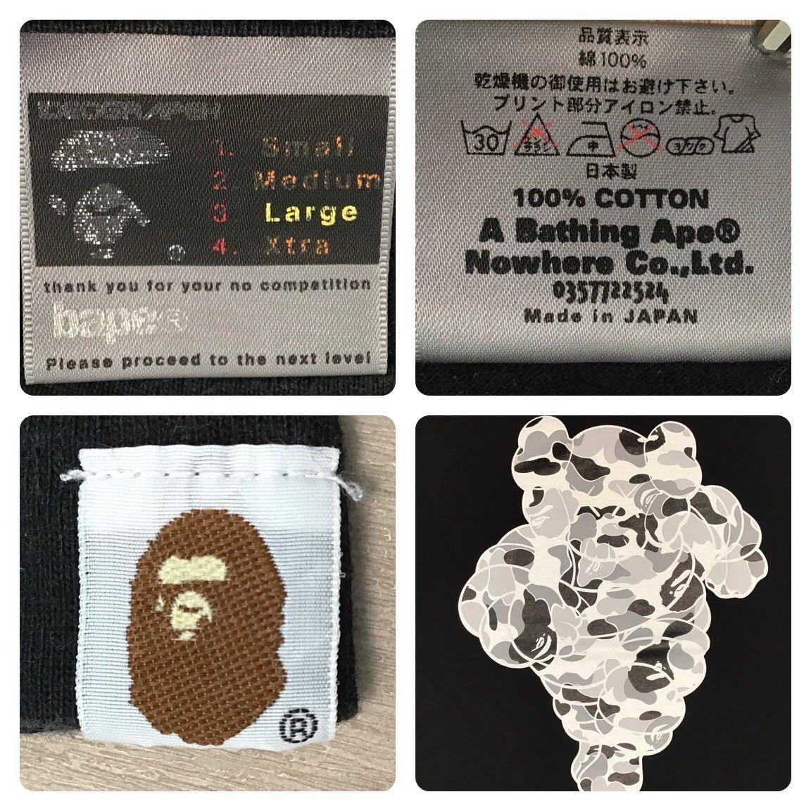 ★激レア★ kaws × bape chum Tシャツ Lサイズ a bathing ape ミシュランマン Michelin カウズ エイプ ベイプ nigo BAPE camo 迷彩 bh62