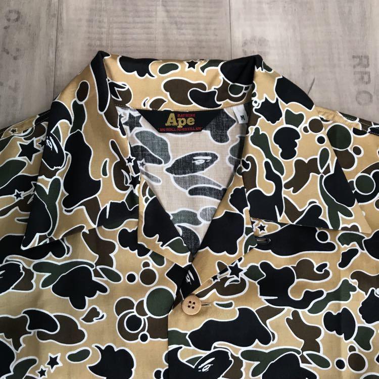★美品★ アロハシャツ sta camo yellow Mサイズ a bathing ape bape 半袖シャツ エイプ ベイプ アベイシングエイプ 迷彩 psyche サイケ