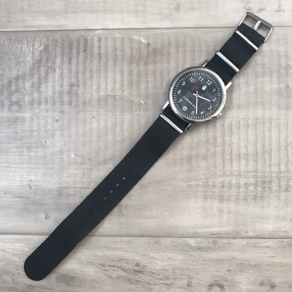☆新品☆ BAPE ビッグフェイス ミリタリー ウォッチ 腕時計 watch 時計 エイプ ベイプ アベイシングエイプ clock bapex a bathing ape