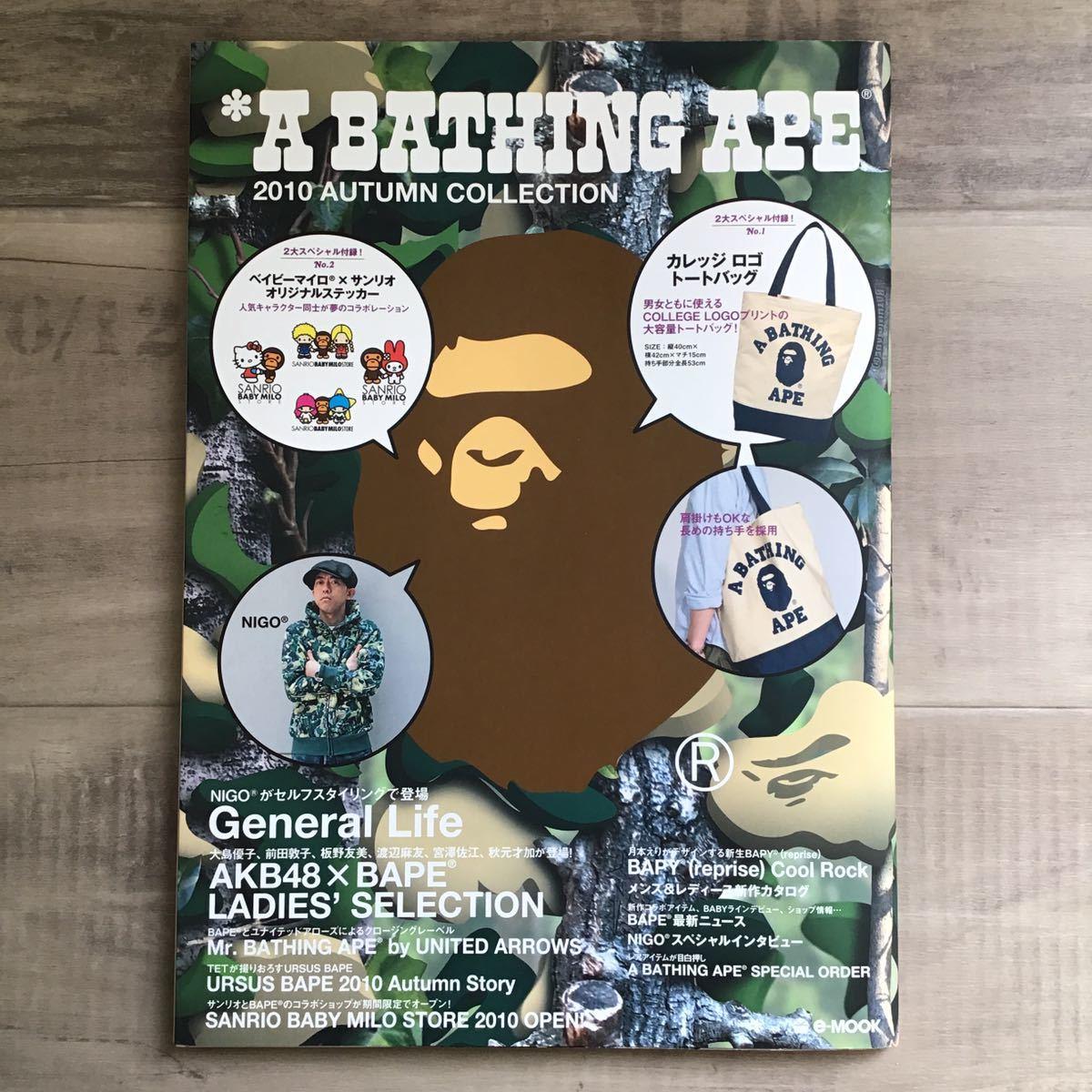 ★付録未開封★ 2010 AUTUMN ムック本 a bathing ape bape mook book エイプ ベイプ 付録 本 nigo カレッジロゴ トートバッグ tote bag