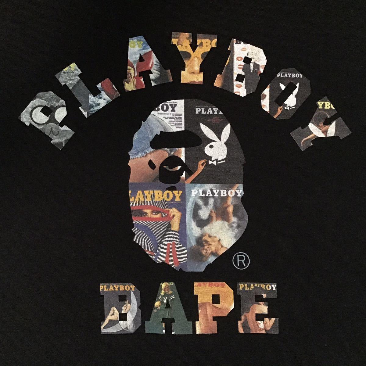 ★激レア★ PLAYBOY × BAPE カレッジロゴ Tシャツ Mサイズ a bathing ape プレイボーイ エイプ ベイプ アベイシングエイプ BAPE 32kk