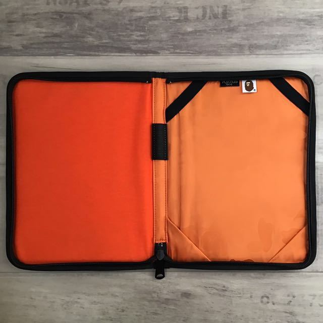 PORTER iPad case a bathing ape 1st camo yellow bape PCケース エイプ ベイプ アベイシングエイプ ポーター bag タブレット 迷彩