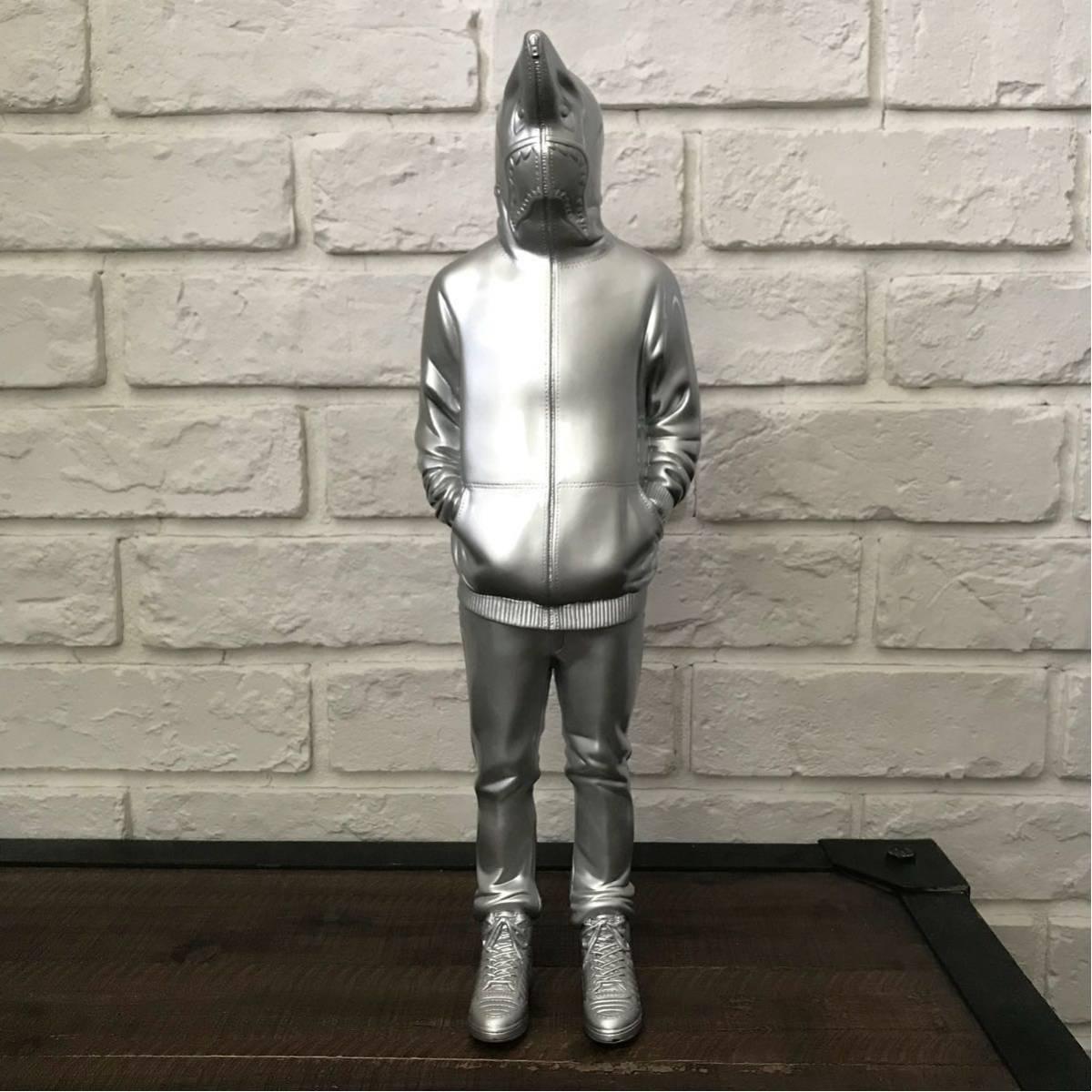 テリヤキ星人 フィギュア a bathing ape bape land teriyaki boys テリヤキボーイズ エイプ ベイプ シャーク パーカー shark hoodie silver