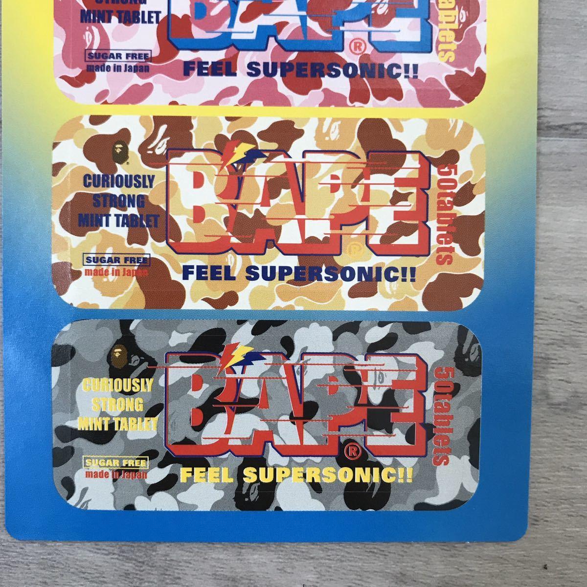 ★激レア★ フリスク シール ABC camo a bathing ape BAPE ステッカー エイプ ベイプ アベイシングエイプ nigo 裏原宿 nowhere ABCカモ 321