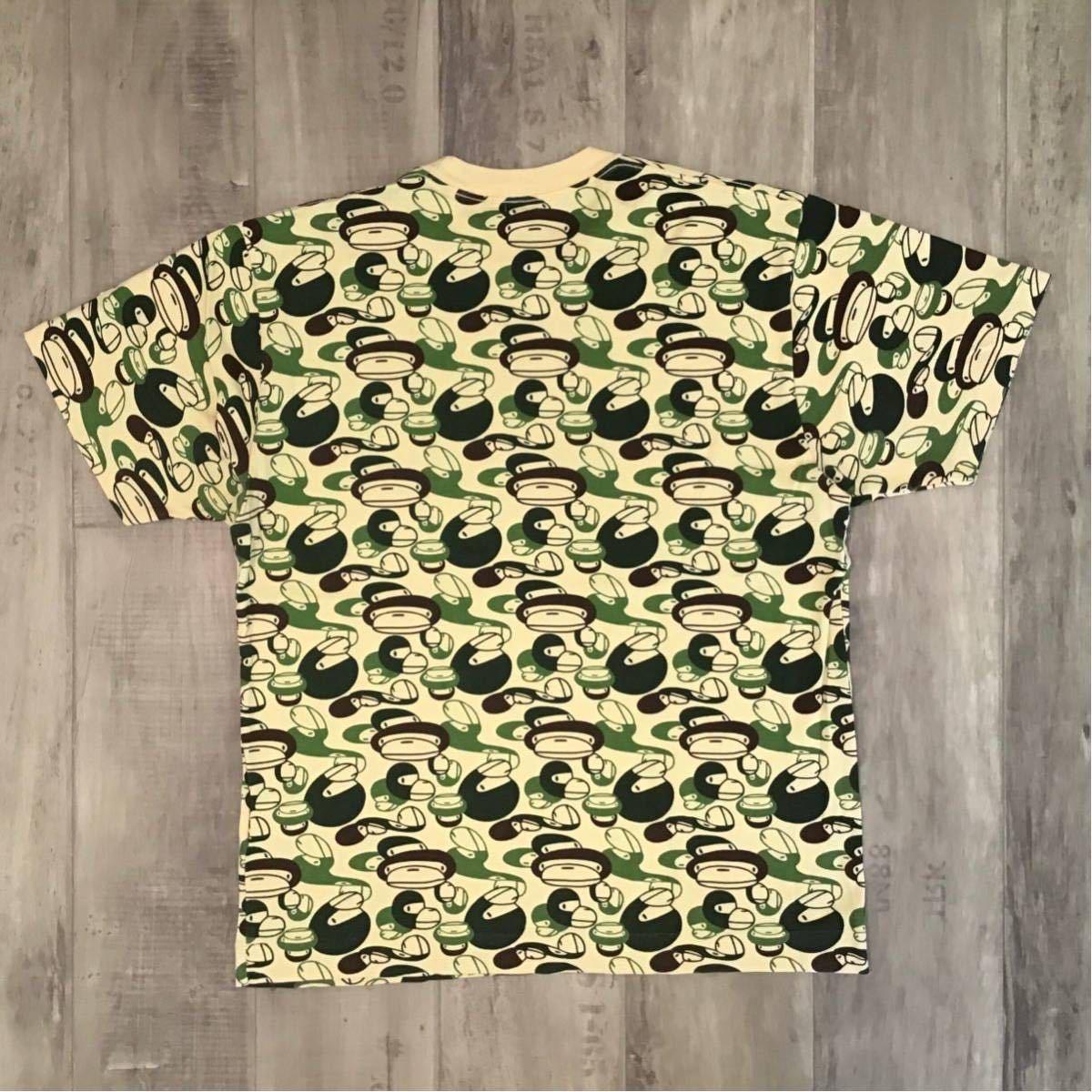 milo camo 総柄 Tシャツ Mサイズ a bathing ape BAPE エイプ ベイプ アベイシングエイプ マイロ 迷彩 NIGO 8t32