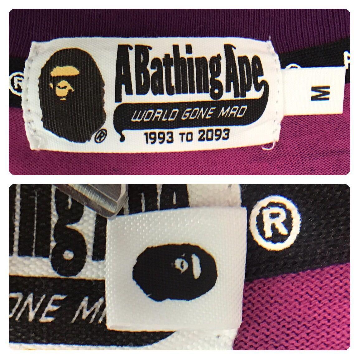purple camo target logo 長袖 Tシャツ Mサイズ a bathing ape BAPE エイプ ベイプ アベイシングエイプ soldier 猿の惑星 パープルカモ