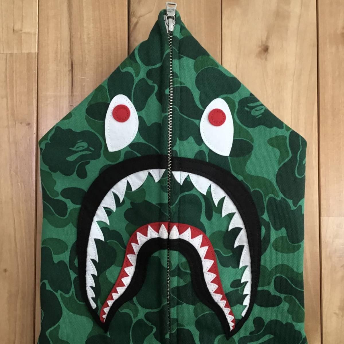 ★渋谷限定★ shibuya city camo シャーク パーカー Sサイズ shark full zip hoodie a bathing ape BAPE エイプ ベイプ 迷彩 2017