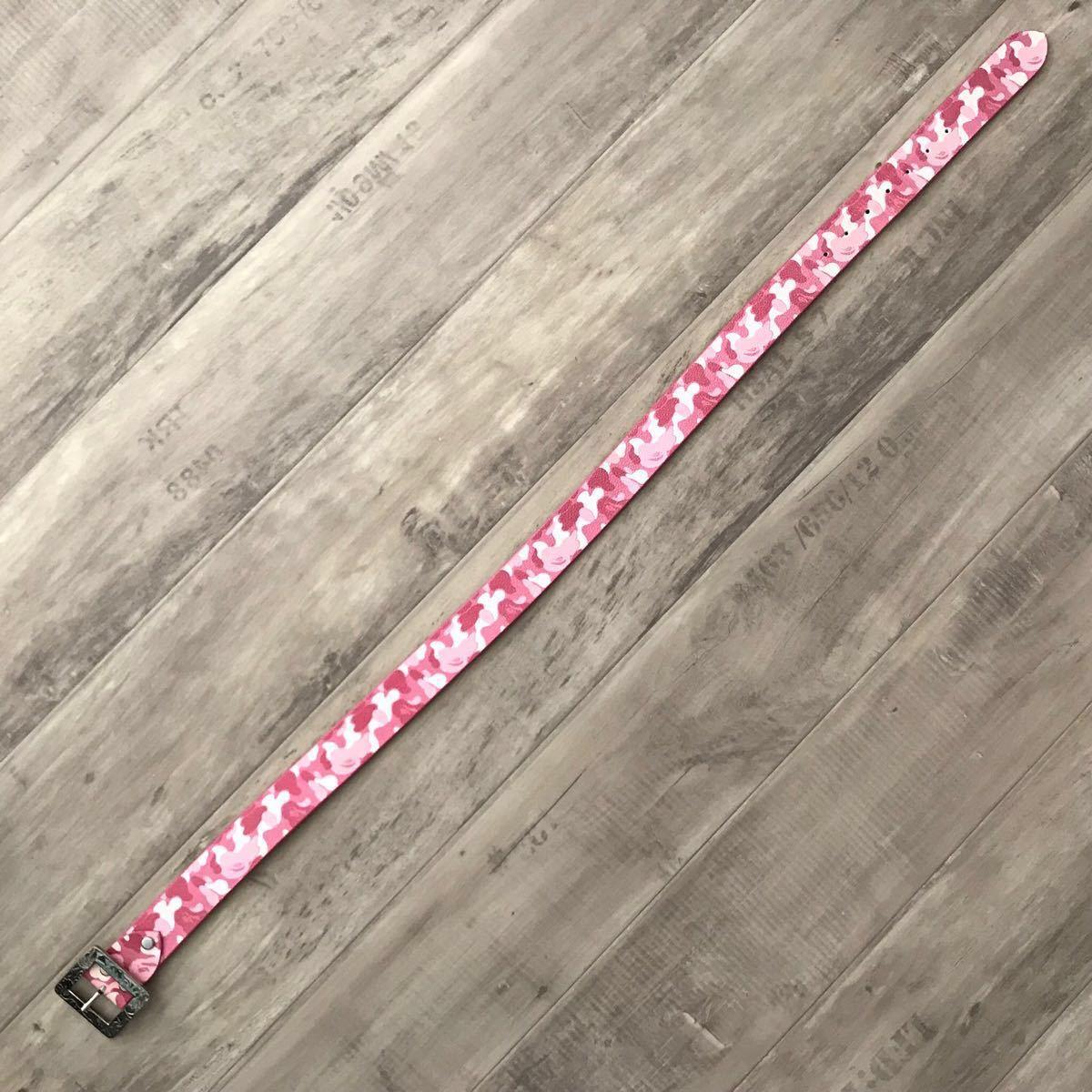 ABC camo pink レザー ベルト a bathing ape bape エイプ ベイプ アベイシングエイプ nigo 裏原宿 belt ABCカモ nigo ピンク