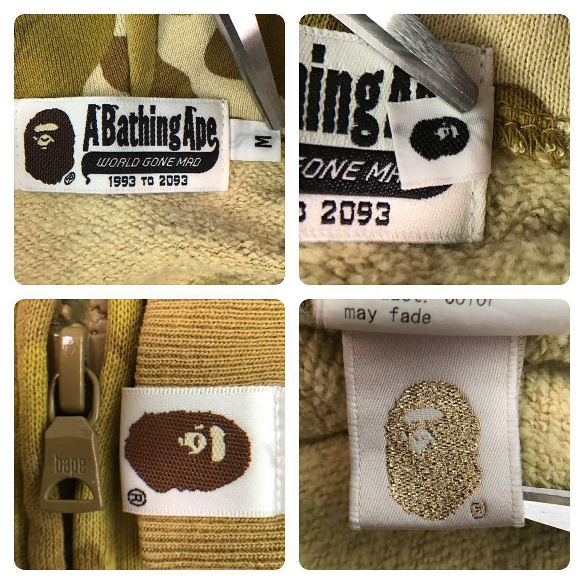 ★非売品★ ゴールド カラーカモ パーカー Mサイズ a bathing ape bape hoodie gold card limited color camo エイプ ベイプ nigo