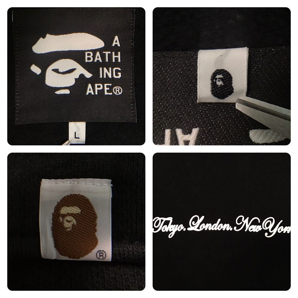 ★激レア★ stash × bape スウェット スタジャン Lサイズ a bathing ape エイプ ベイプ アベイシングエイプ スタッシュ varsity jacket 41