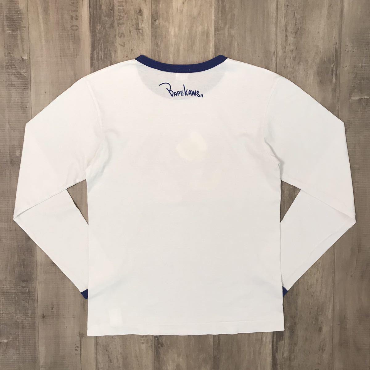 ★激レア★ kaws bendy BA logo 長袖 Tシャツ Mサイズ a bathing ape bape カウズ エイプ ベイプ アベイシングエイプ nigo 6363