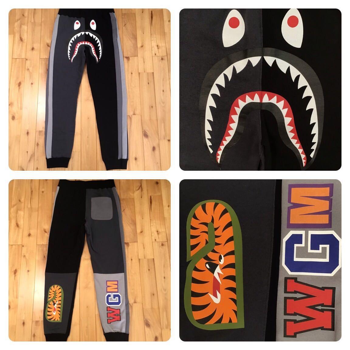 ★新品★ CRAZY SHARK SLIM FIT SWEAT PANTS Sサイズ a bathing ape BAPE シャーク スウェットパンツ エイプ ベイプ アベイシングエイプ 62