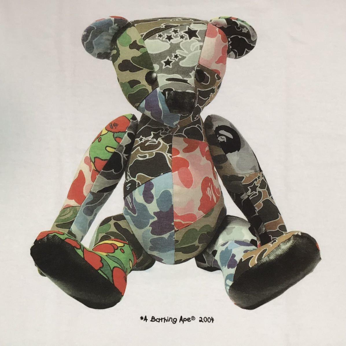 ★新品★ BAPE BEAR Tシャツ Lサイズ a bathing ape エイプ ベイプ アベイシングエイプ teddy bear psyche camo ABC camo 2004 d5